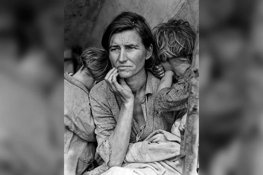 "Fotografia original de Dorothea Lange – ""Migrant Mother"""